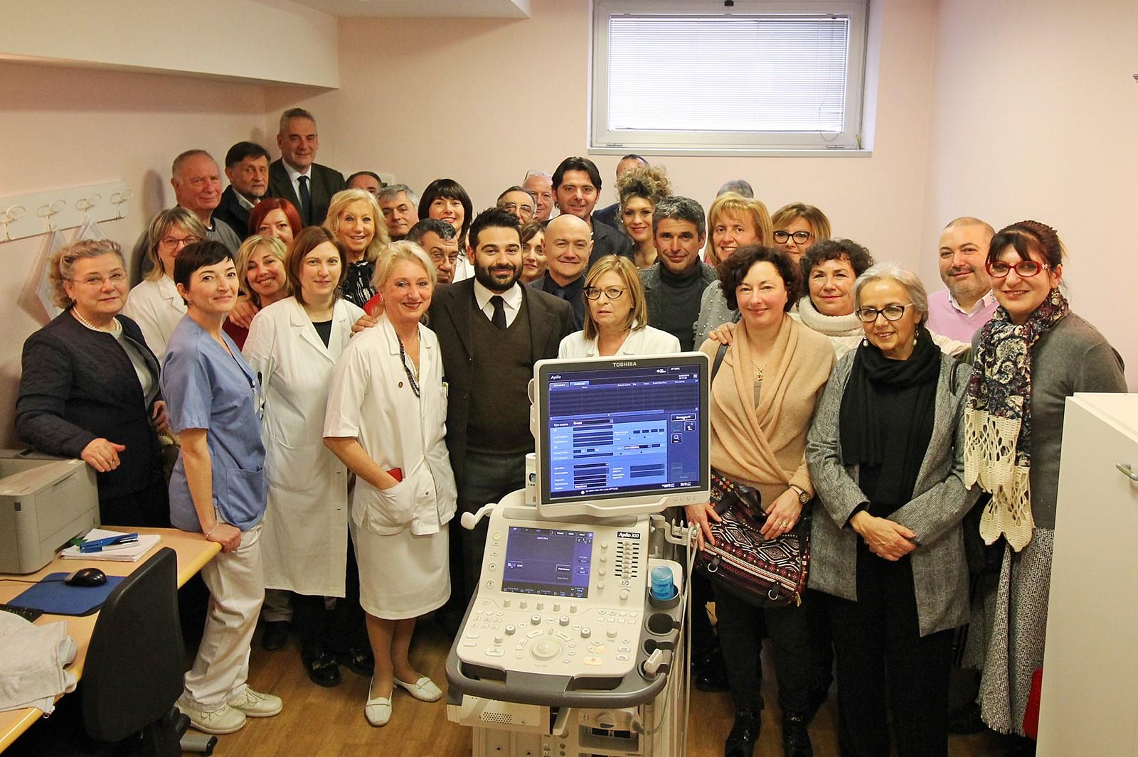 L'inaugurazione del nuovo ecografo a cui hanno partecipato per Icel il Presidente Andrea Babini ed il Vice Presidente Lorenzo Ponseggi